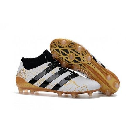 new arrival 02f6e b9a13 News adidas Ace 16.1 FG Mens Football Shoes White Black Gold