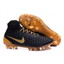 Nike Magista Obra II FG Firm Ground Soccer Boots Black Gold