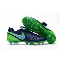 New 2016 Nike Tiempo Legend 6 FG Leather Football Cleats Black Green