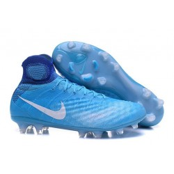 Nike Magista Obra II FG Firm Ground Soccer Boots Blue White
