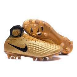 Nike Magista Obra II FG New Tops Football Cleat Golden Black