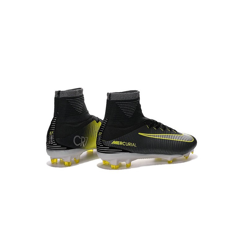 reputable site 3b69d 17ef4 Nike Mercurial Superfly 5 FG New Soccer Cleats Black Yellow