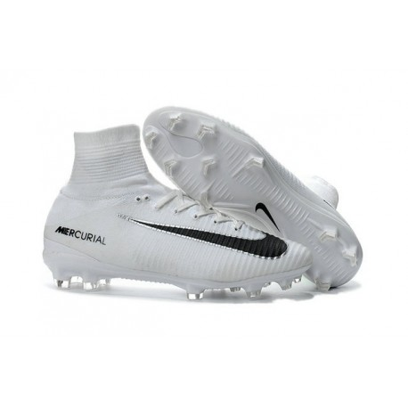 88b984cea9f69 Nike Mercurial Superfly 5 FG New Soccer Cleats White Black