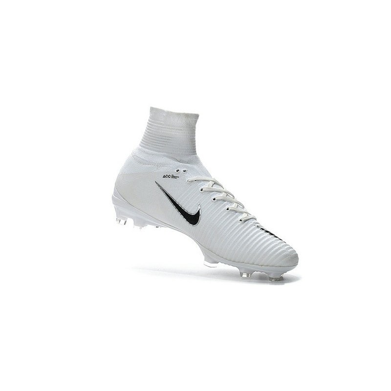 premium selection be864 d52cb Nike Mercurial Superfly 5 FG New Soccer Cleats White Black