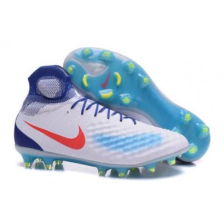 Nike Magista Obra II FG New Tops Football Cleat White Blue Red