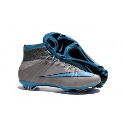 Nike C.Ronaldo Mercurial Superfly 4 FG Soccer Boot Grey Blue