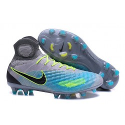 Nike Magista Obra II FG New Tops Football Cleat Grey Blue Black