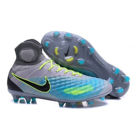 Nike Magista Obra II FG New Tops Football Cleat Grey Blue Black