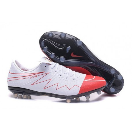 Nike Hypervenom Phinish FG Football Boots Wayne Rooney White Red