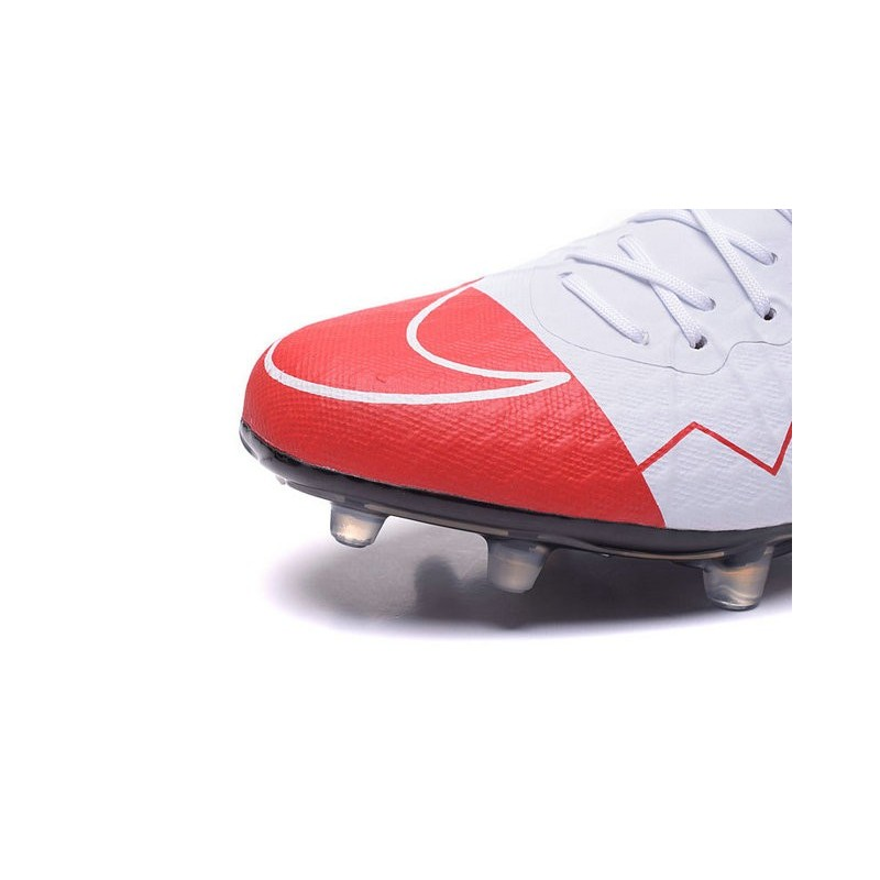 fe79cd2f5 Nike Hypervenom Phinish FG Football Boots Wayne Rooney White Red