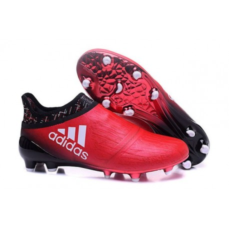 taburete Puñalada Resaltar  New Mens adidas X 16+ Purechaos FG/AG Cleats Red Black White