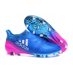 New Mens adidas X 16+ Purechaos FG/AG Cleats Blue Pink White