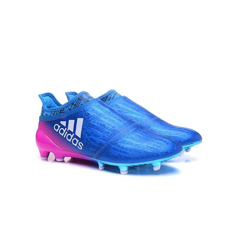 new mens adidas x 16+ purechaos fg ag cleats blue pink white