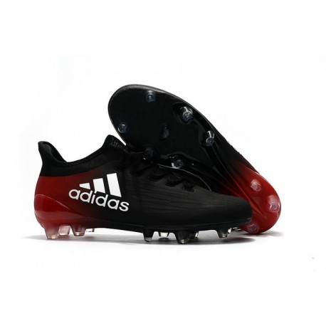 New 2016 adidas X 16.1 FG Firm Ground Soccer Boots Black Red White