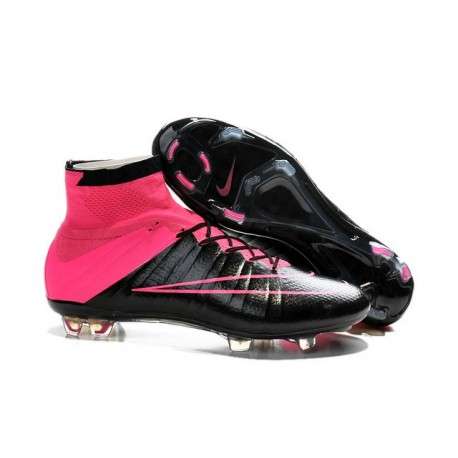 meet 899bc 82b27 Nike C.Ronaldo Mercurial Superfly 4 FG Soccer Boot Leather Black Pink