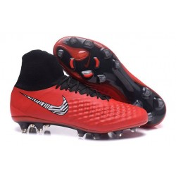 Nike Magista Obra II FG New Tops Football Cleat Red Black