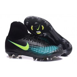 Nike Magista Obra 2 FG New Men's Soccer Boots Black Jade Volt