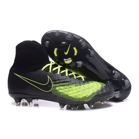 Nike Magista Obra 2 FG New Men's Soccer Boots Black Yellow