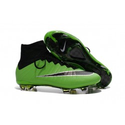 Nike C.Ronaldo Mercurial Superfly 4 FG Soccer Boot Green Black