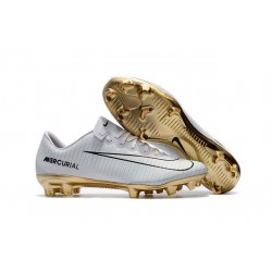 Nike Mercurial Vapor Vitórias 11 CR7 FG Football Cleat White Gold