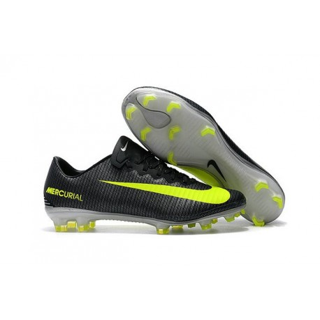 News Nike Mercurial Vapor XI CR7 FG ACC Soccer Shoes Black Yellow