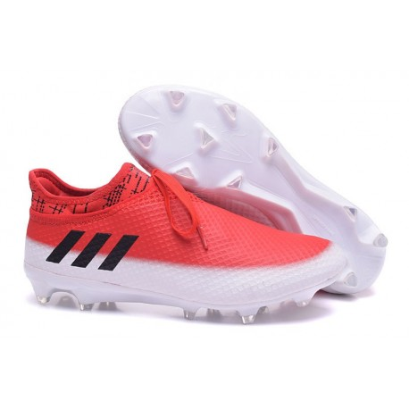adidas Messi 16+ Pureagility FG/AG New Soccer Boots Red White Black