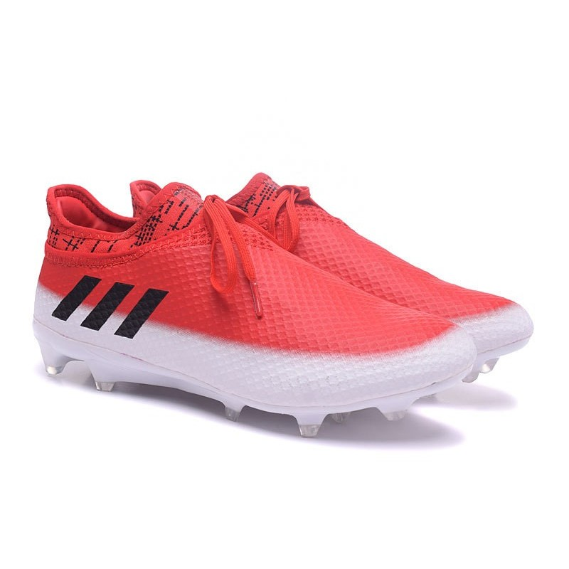 83d7064c1 adidas Messi 16+ Pureagility FG AG New Soccer Boots Red White Black