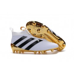 adidas ACE 16+ Purecontrol FG News Soccer Boot White Gold Black