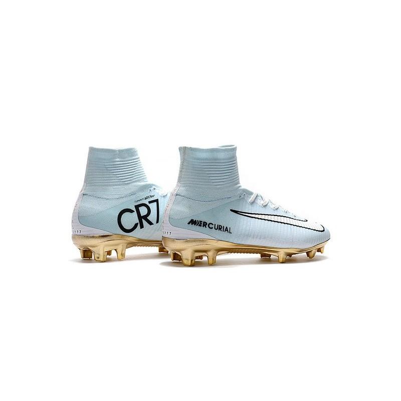 hot sale online 35ec4 98fff Nike Mercurial Superfly V CR7 Vitórias FG Firm Ground Boot White Gold  Maximize. Previous. Next