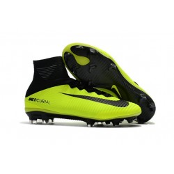 Nike Mercurial Superfly V FG Firm Ground Boot Yellow Black