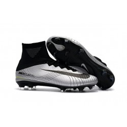 Nike Mercurial Superfly 5 FG News 2017 Cleats Silver Black