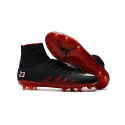 Neymar X Jordan NJR Nike Hypervenom Phantom II FG Soccer Boots Black Red