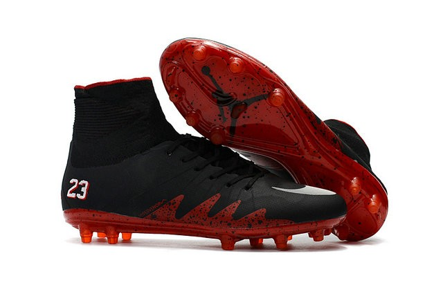 2b064c181 Neymar X Jordan NJR Nike Hypervenom Phantom II FG Soccer Boots Black Red