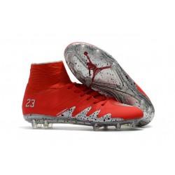 Neymar x Jordan NJR Nike Hypervenom Phantom II FG Soccer Boots Red Silver