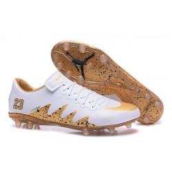 Nike Hypervenom Phinish FG Neymar X Jordan Soccer Cleat White Gold