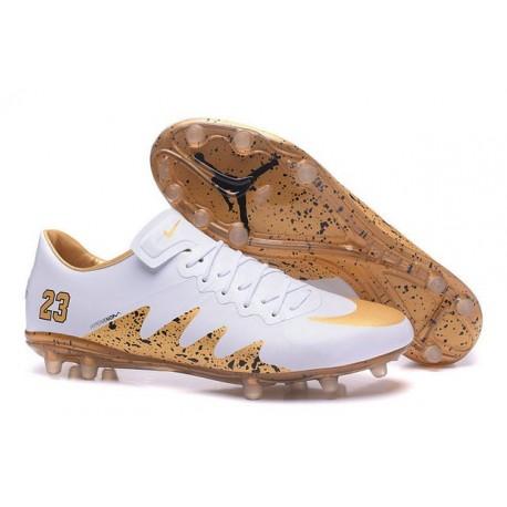 nouveau style 4cdda fce43 Nike Hypervenom Phinish FG Neymar X Jordan Soccer Cleat White Gold