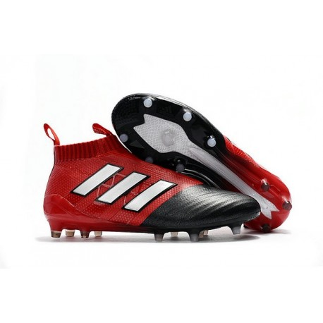 Top adidas ACE 17+ Purecontrol FG Soccer Cleats Black Red White