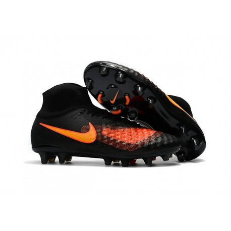 Nike Magista Obra II FG Firm Ground Men Cleat Black Orange