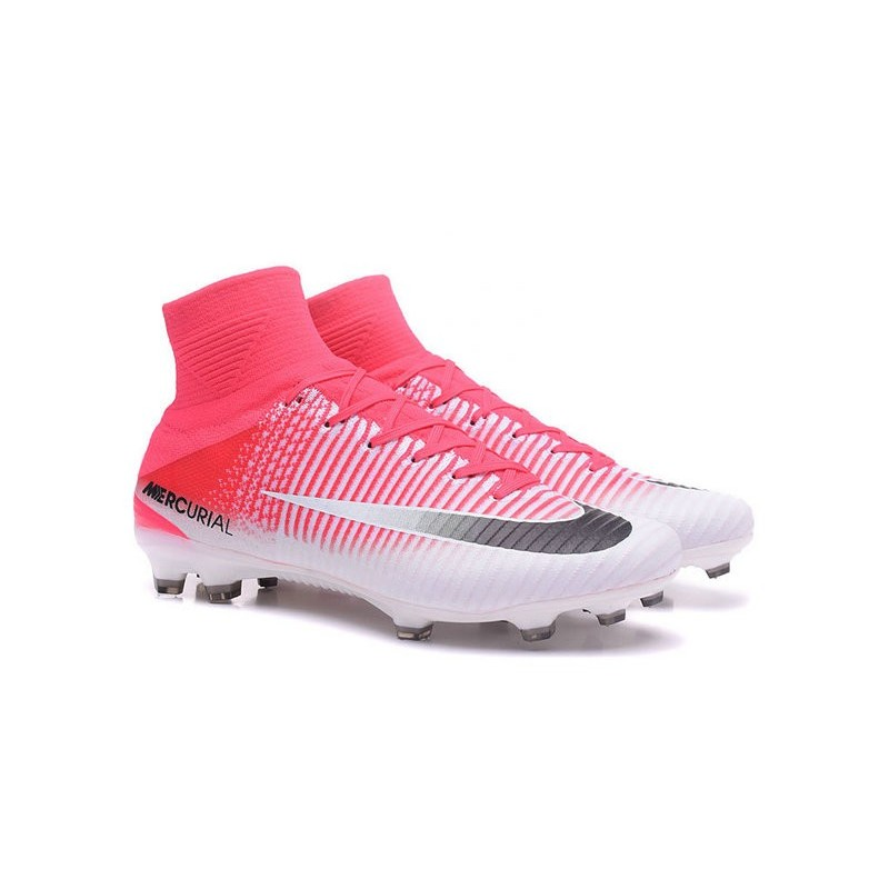 d66adb94932 Nike Mercurial Superfly 5 FG News 2017 Cleats Pink White Black