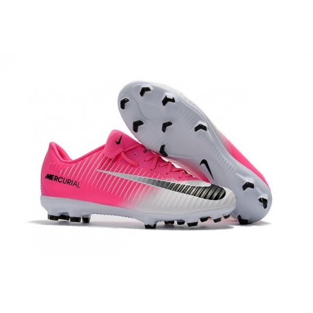 News Nike Mercurial Vapor XI FG ACC Soccer Shoes Pink White Black