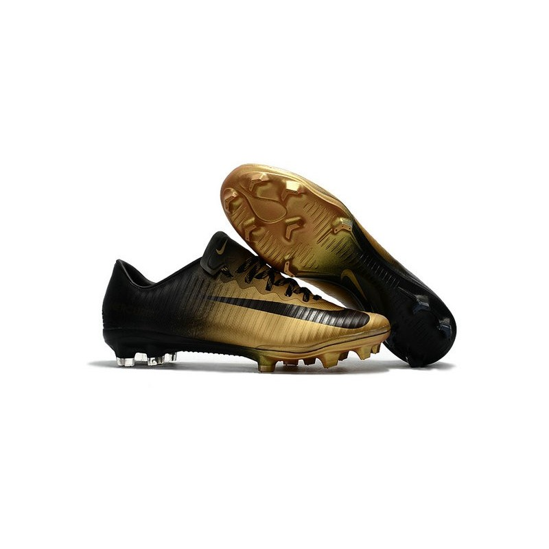 581622b1c News Nike Mercurial Vapor XI FG ACC Soccer Shoes Black Gold