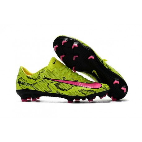 News Nike Mercurial Vapor XI FG ACC Soccer Shoes Yellow Pink