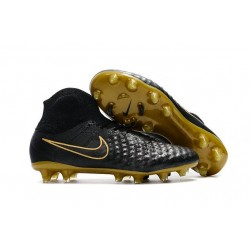 Nike Magista Obra II FG Firm Ground Men Cleat Black Gold