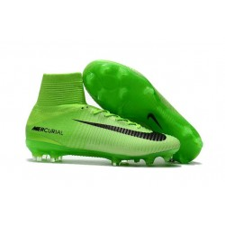Nike Mercurial Superfly 5 FG News 2017 Cleats Green Black