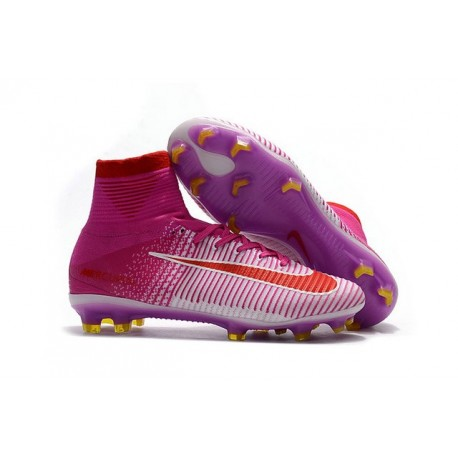 Nike Mercurial Superfly 5 FG News 2017 Cleats Pink Red 0f8fa088a3789