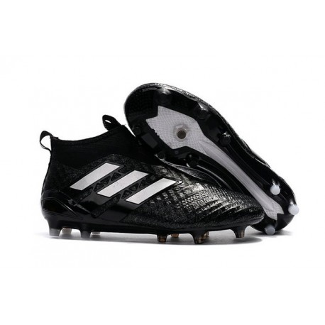 san francisco 4f572 65007 Top adidas ACE 17+ Purecontrol FG Soccer Cleats in Black White