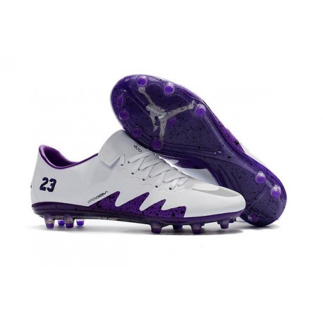 Nike Hypervenom Phinish FG News 2017 Neymar Jordan White Purple Cleat