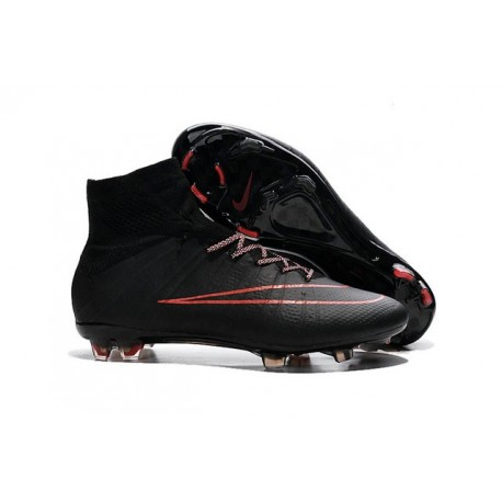 Top Nike Mercurial Superfly Iv FG Firm Ground Cleat Black Red