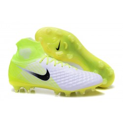 Nike Magista Obra II FG Firm Ground Men Cleat White Yellow Black