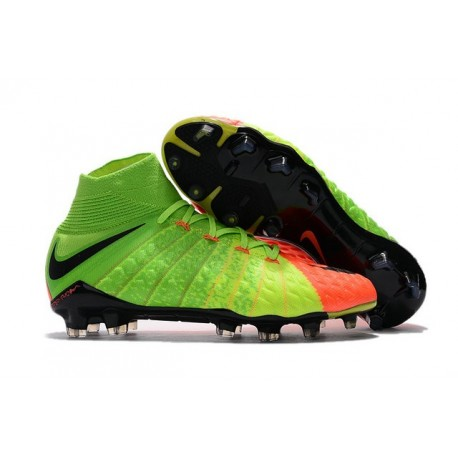 f72db73ef Nike HyperVenom Phantom III DF FG 2017 New Soccer Shoes Electric Green  Orange Black